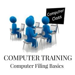 Computer Training: Filing Basics (USB Flashdrive)