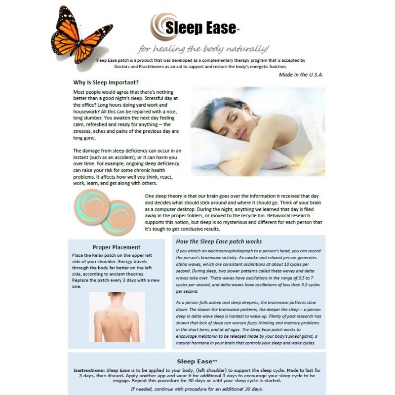 Sleep Ease - BioEnergy Patch (10 Pack)
