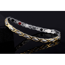 Quantum Energy Bracelet - Kisses and Hugs Silver/Gold
