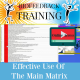 Effective Use of the Main Matrix - Online Access