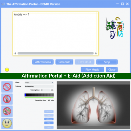 Affirmation Portal + E-Aid (Addiction Aid)