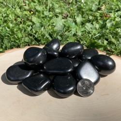 Shungite Polished Freeform Palm Stone (1 pc)