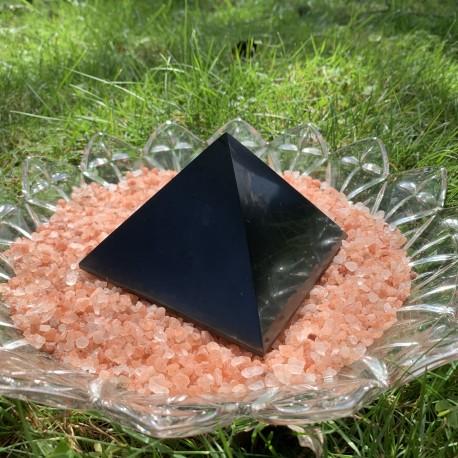 Shungite Large Polished Pyramid 2