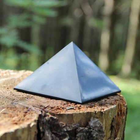 Shungite Medium Polished Pyramid